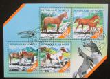 Poštovní známky Niger 2014 Koně Mi# 2820-23 Kat 12€