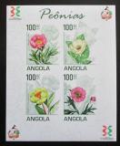 Poštovní známky Angola 2011 Pivoňky neperf. Mi# 1853-56 B Bogen