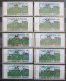 Poštovní známky Česká republika 2000 Hrad Veveří ATM známky Mi# 1 Kat 20€