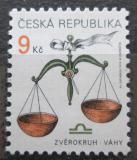 Poštovní známka Česká republika 1999 Znamení zvěrokruhu - váhy Mi# 217