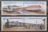 Poštovní známky Česká republika 2000 Železnice Mi# 252-53