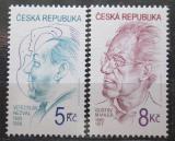 Poštovní známky Česká republika 2000 Osobnosti Mi# 254-55