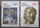Poštovní známky Česká republika 2002 Česká kultura a Francie Mi# 320-21
