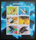 Poštovní známky Mauritánie 2016 Motýli neperf. Mi# N/N