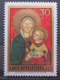 Poštovní známka Lichtenštejnsko 1973 Vánoce, umění Mi# 595