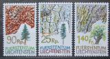 Poštovní známky Lichtenštejnsko 1986 Stromy Mi# 913-15