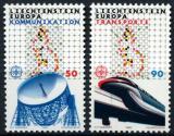 Poštovní známky Lichtenštejnsko 1988 Evropa CEPT, transport Mi# 937-38