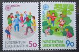 Poštovní známky Lichtenštejnsko 1989 Evropa CEPT, dětské hry Mi# 960-61