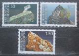Poštovní známky Lichtenštejnsko 1989 Minerály Mi# 981-83 Kat 6€