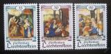 Poštovní známky Lichtenštejnsko 1990 Vánoce, umění Mi# 1005-07