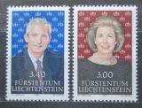 Poštovní známky Lichtenštejnsko 1991 Knížecí pár Mi# 1024-25 Kat 11€