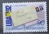 Poštovní známka Lichtenštejnsko 1991 Výstava LIBA Mi# 1026
