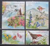 Poštovní známky Česká republika 2005 Flóra a fauna Krkonoš Mi# 438-41