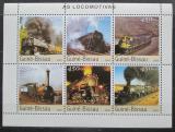 Poštovní známky Guinea-Bissau 2003 Parní lokomotivy Mi# 2510-15 Kat 12€