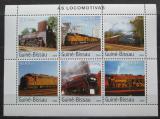 Poštovní známky Guinea-Bissau 2003 Lokomotivy Mi# 2650-55 Kat 13€