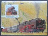 Poštovní známka Guinea-Bissau 2003 Lokomotivy Mi# Block 448 Kat 14€