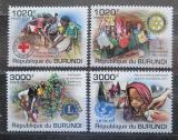 Poštovní známky Burundi 2011 Humanitární organizace Mi# 2226-29 Kat 9.50€