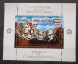 Poštovní známka Rovníková Guinea 1975 Mount Rushmore, zlatá Mi# Block 179