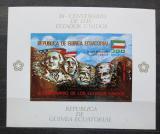 Poštovní známka Rovníková Guinea 1975 Mount Rushmore, zlatá Mi# Block A 179