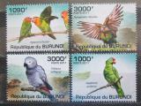 Poštovní známky Burundi 2011 Papoušci Mi# 1978-81 Kat 10€