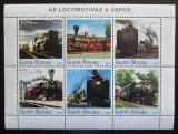 Poštovní známky Guinea-Bissau 2003 Parní lokomotivy Mi# 2650-55 Kat 13€
