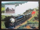 Poštovní známka Guinea-Bissau 2003 Parní lokomotivy Mi# Block 447 Kat 14€