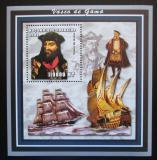 Poštovní známka Mosambik 2002 Vasco de Gama Mi# Block 166 Kat 11€
