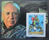 Poštovní známka Fudžajra 1972 Umění, Picasso neperf. Mi# Block 140 B Kat 8.50€