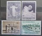 Poštovní známky Vatikán 1964 Papež Pavel VI. na kongresu v Bombaj Mi# 467-70