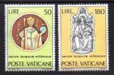Poštovní známky Vatikán 1971 Sjednocení Uhrů, 1000. výročí Mi# 594-95