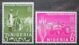 Poštovní známky Nigérie 1963 Boj proti hladu Mi# 132-33