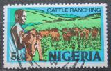 Poštovní známka Nigérie 1974 Stádo skotu Mi# 276 II Y