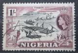Poštovní známka Nigérie 1953 Přeprava dřeva Mi# 79