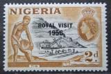 Poštovní známka Nigérie 1956 Těžba cínu přetisk Mi# 84