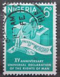 Poštovní známka Nigérie 1963 Lidská práva Mi# 145