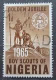Poštovní známka Nigérie 1965 Skautské hnutí, 50. výročí Mi# 160