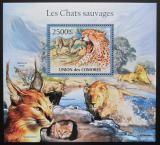 Poštovní známka Komory 2011 Kočkovité šelmy Mi# Block 633 Kat 13€