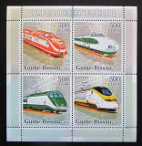 Poštovní známky Guinea-Bissau 2006 Moderní lokomotivy Mi# 3362-65 Kat 8€