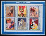 Poštovní známky Guinea-Bissau 2001 Umění, Pablo Picasso Mi# 1618-23 Kat 8€