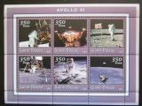 Poštovní známky Guinea-Bissau 2001 Mise Apollo XI Mi# 1785-90 Kat 9€