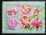 Poštovní známka Mosambik 2007 Orchideje Mi# Block 212 Kat 10€