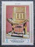 Poštovní známka Adžmán 1972 Egypt, zlaté křeslo Mi# 1293 Kat 2.50€