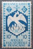 Poštovní známka Francouzská Rovníková Afrika 1941 Fénix Mi# 164