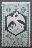 Poštovní známka Francouzská Rovníková Afrika 1941 Fénix Mi# 167