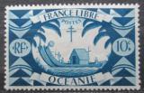 Poštovní známka Francouzská Oceánie 1942 Polynéská loď Mi# 168