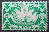 Poštovní známka Francouzská Oceánie 1942 Polynéská loď Mi# 169