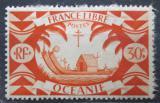 Poštovní známka Francouzská Oceánie 1942 Polynéská loď Mi# 170
