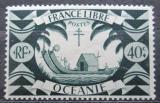 Poštovní známka Francouzská Oceánie 1942 Polynéská loď Mi# 171