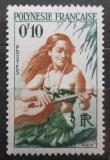 Poštovní známka Francouzská Polynésie 1958 Kytaristka Mi# 1