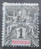 Poštovní známka Martinik 1892 Koloniální alegorie Mi# 26